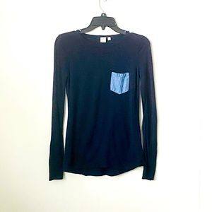 Twik Navy Blue Round Neck Topw/ Long sleeves Small